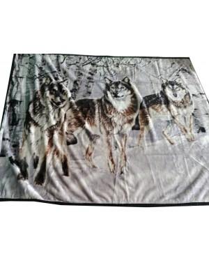 Koc Trzy wilki 160x210cm...