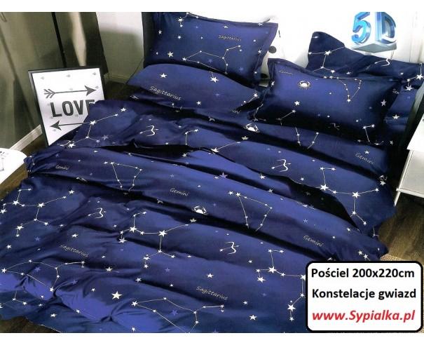 Pościel Granatowa w Gwiazdy 200x220cm...