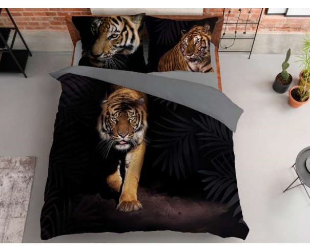 Pościel Tygrys na czerni 200x220...