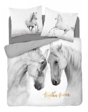 Pościel Dwa siwe konie...