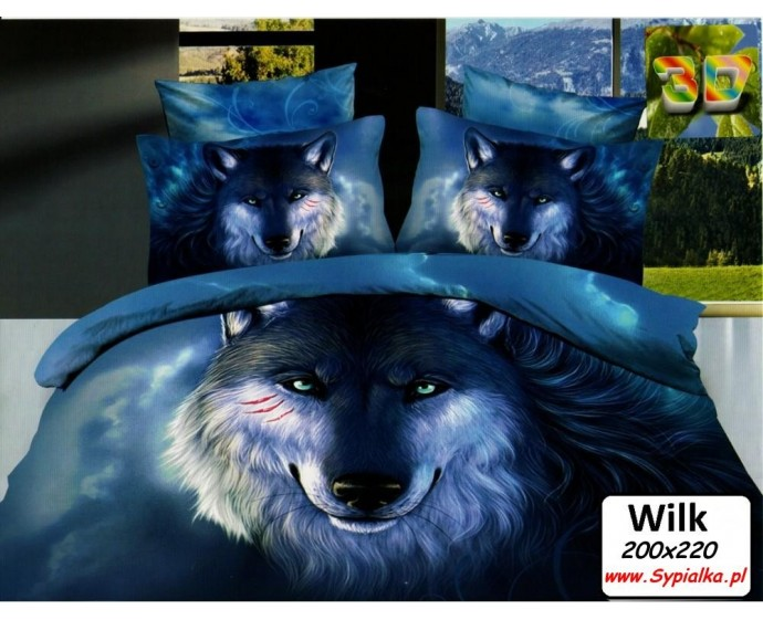 Pościel 3D Wilk 200x220