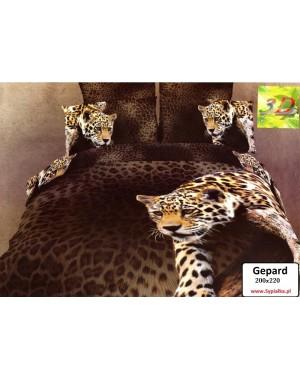 Pościel 3D Gepard 200x220 foto, cętki
