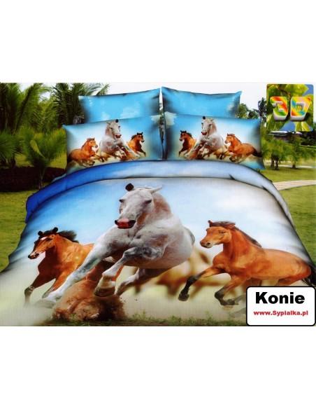 Pościel Konie 160x200 efekt 3D